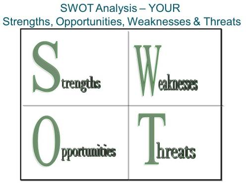 Career Strengths Weaknesses Opportunities Threats