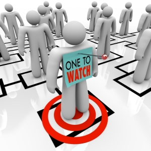 One to Watch Marked Person in Organizational Chart